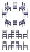 Isometric black chair — Stock Vector