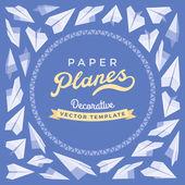 Vektor-dekoration Design gemacht von Papierflieger — Stockvektor