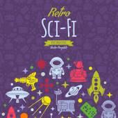 Retro Sci-Fi vector decorating design — 图库矢量图片