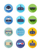Virtual and augmented reality icons — Stock Vector