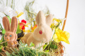 Easter rabbits and chicken — Stock Photo