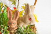 Pair of Easter rabbits — Stock Photo