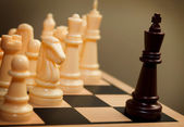 Chess king surrendering — Stock Photo