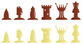 Chess pieces bitmap illustration — Stock Photo
