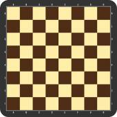 Chessboard with grey frame — Stock vektor