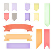 Ribbon banners collection — Stock Vector