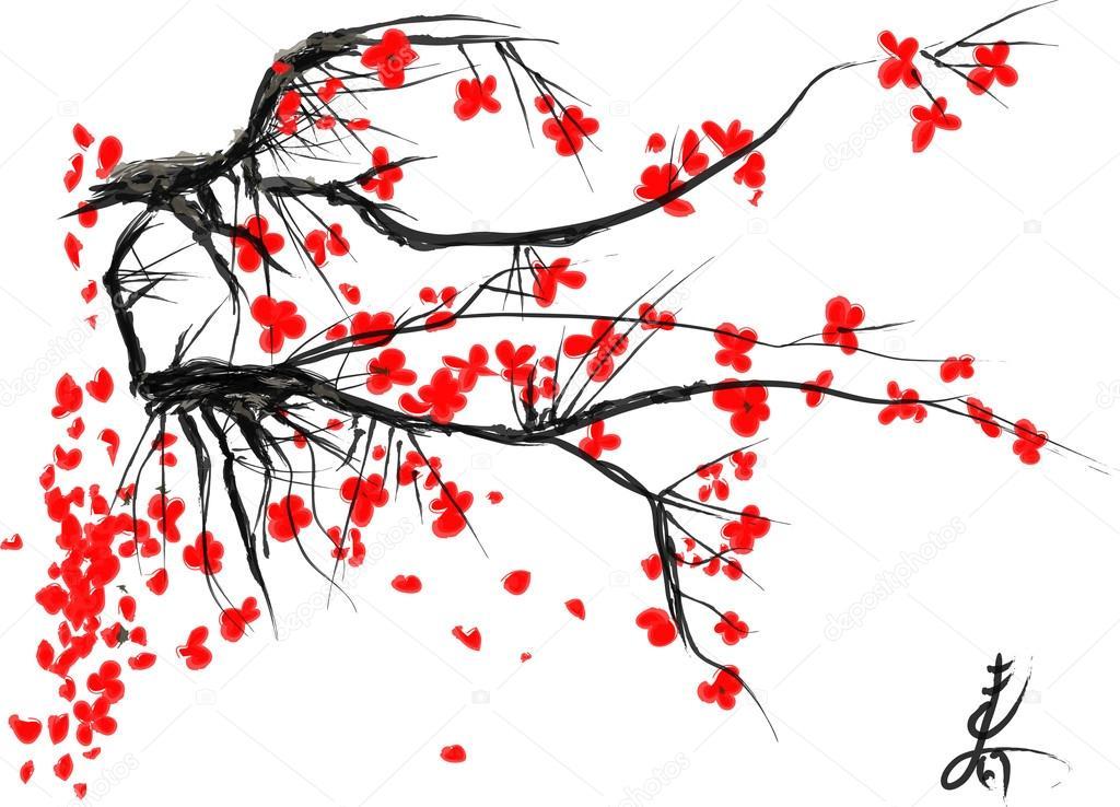 Реалистичные Сакура цветут