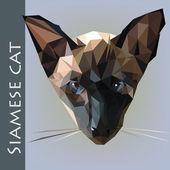 Siames cat head — Stockvektor
