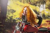 バイク騎乗位 Redhad — ストック写真