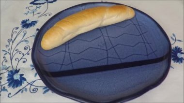 Fresh homemade bread rolls — Stock Video