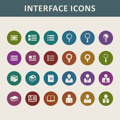 Application icons set — Stock Vector