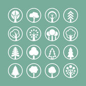 Baum-Symbole. Natur-Symbole. — Stockvektor