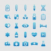 Health and medicine icons — Stock Vector