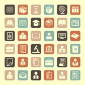 Набор пиктограмм образования — Cтоковый вектор