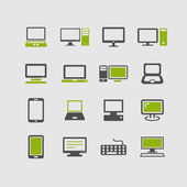 Computer Devices icons. — Stock Vector