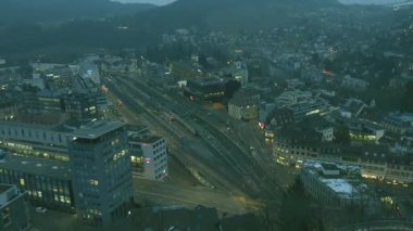 Time lapse - Switzerland, Baden — Stock Video