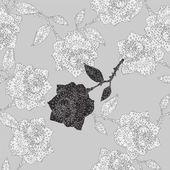 Roses ornament — Stock Vector