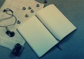 Empty white notebook — Stock Photo