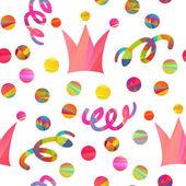 Naadloze patroon met carnaval kroon — Stockvector