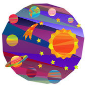Vector images of planets — Stock Vector