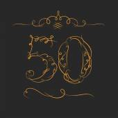 Anniversary 50th signs — Stock Vector