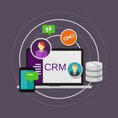 Crm customer relationship management — Stock Vector