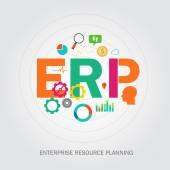 Erp enterprise reource planning — Stock Vector