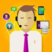 Call center crm customer relationship management — Stock Vector