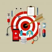 Health medication target effective drug obama care — Διανυσματικό Αρχείο