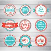 Vintage Labels template set — Stock Vector