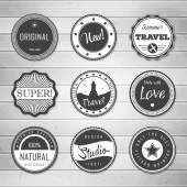 Vintage labels template set: super, original, new, best choice, travel. — Stock Vector