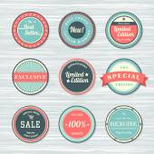 Vintage labels set: new, limited edition, exclusive, sale. — Stock Vector