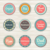 Vintage labels: original, deal of day, authentic, free, handmade — Stock Vector