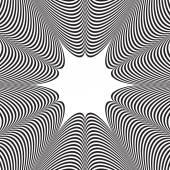 Abstraktní vektorová černobílé pruhované pozadí. Optický klam — Stock vektor