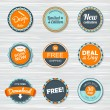 Vintage labels template set. Vector retro badges — Stock Vector #74963889
