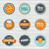 Vintage labels template set. Vector retro badges — Stock Vector