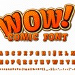 Постер, плакат: Creative comic font Vector alphabet in style pop art