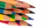 Colored pencils isolated. — Photo