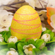 Easter - the wreath with colored egg. — Stock Photo #64434801