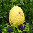 Easter -the wreath with colored egg. — Stock Photo #64434805