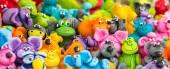 Collection of ceramic figurines handmade on the fair in Poland. — Stok fotoğraf