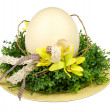 Easter - decorative composition with wreath and egg. — Stock Photo #68471945