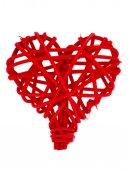 Rattan heart isolated. — Stock Photo
