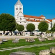 The view of old church and ancient ruins in Zadar, Croatia. — Stock Photo #78417200