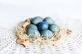 Blue Eastern eggs — Stock Photo