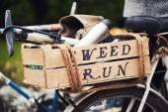 Retro bicycle basket — Foto Stock