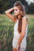Mulher bonita posando — Fotografia Stock