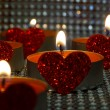Hearted candles — Stock Photo #64217663