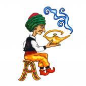 Funny Fantasy Cyrillic Alphabet — Foto de Stock
