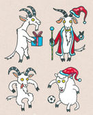 Goats and sheep for New 2015 — Stock Photo
